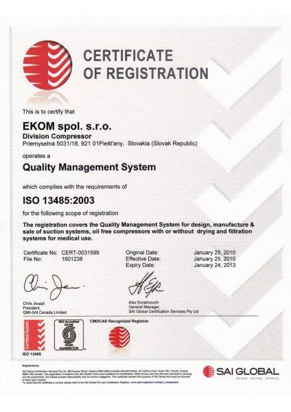 Ekom certificate of registration