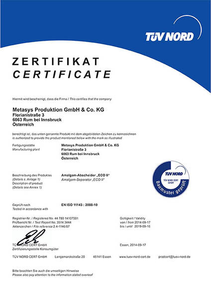 Metasys certificate eco ll